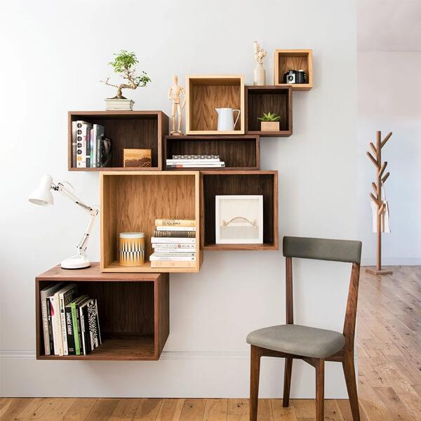Plain block shelves