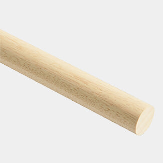 Cheshire Mouldings Light Hardwood Dowel 2400mm-Length - Various Sizes And Quantity Available