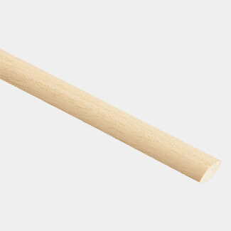 Cheshire Mouldings Light Hardwood 6mm-Thick x 6mm-Wide Timber Quadrant 2400mm-Length - Various Quantity Available