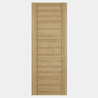 LPD Vancouver 1981mm-Height x 44mm-Thick FD30 5 Panel Oak Laminated Internal Fire Door - Various Width Available