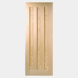 LPD Idaho 3 Panel Pre-Finished Oak Fire Internal Door - Various Sizes Available