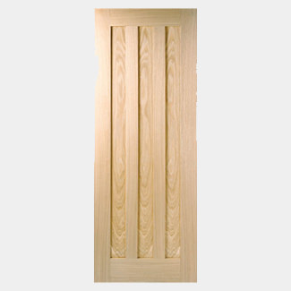 LPD Idaho 3 Panel Unfinished Oak Fire Internal Door - Various Sizes Available
