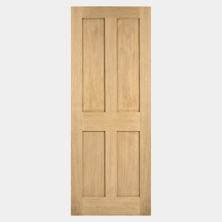 LPD London Unfinished Oak Fire Internal Door 1981 x 44mm - Various Width Available
