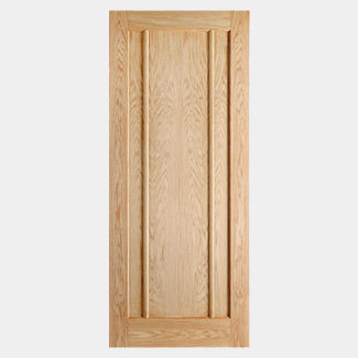 LPD Lincoln 3 Panel 1981 x 44mm Pre-Finished Oak Internal Fire Door - Various Width Available