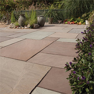 Bradstone Blended Natural Sandstone Paving Slabs Patio Pack 4905 x 3980mm - Various Finishes Available - Pallet