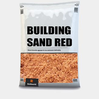 Buildworld Red Building Sand 25Kg Bag