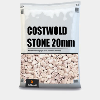Buildworld Decorative Cotsworld Stone 20mm 25Kg Bag