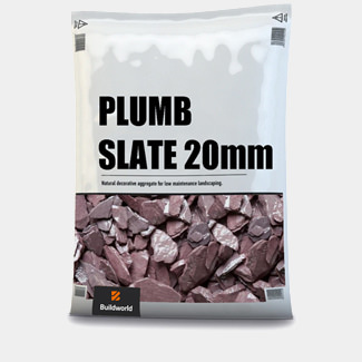 Buildworld Decorative Plumb Slate 20mm 25Kg Bag