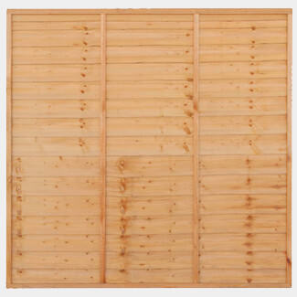 Grange 180cm Wide Superior Lap Fence Panel Golden Brown - Various Heights Available