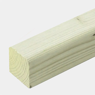 Buildworld Treated Timber Post 100 x 100mm - 4 Inch - Various Lengths Available