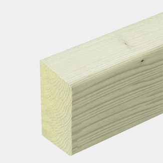 Buildworld Treated Timber Post 100 x 75mm - 4 x 3 Inch 2400mm Length
