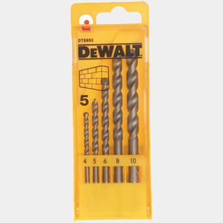 Dewalt 4-10mm Masonry Drill Set 5 Piece