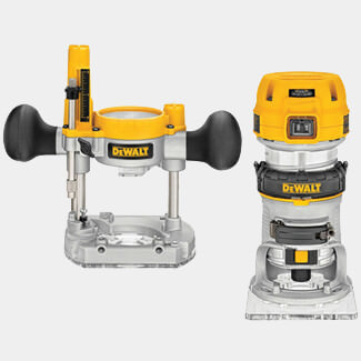 Dewalt 1/4Inch 8mm Premium Plunge And Fixed Base Combi Router