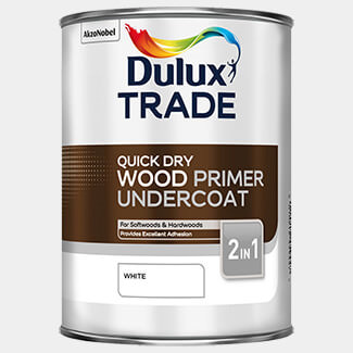 Dulux Trade 1 Litre Quick Drying Wood Primer Undercoat