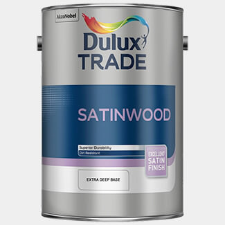 Dulux Trade 1 Litre Satinwood Paint Pure Brilliant White