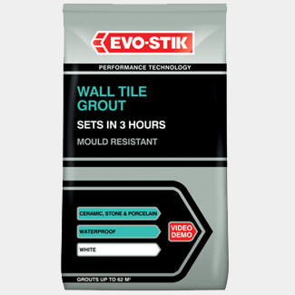 Evo-Stik Wall Tile Grout Mould Resistant White - Various Pack Sizes Available