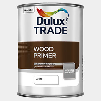 Dulux Trade 5L Wood Primer White