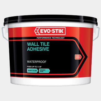 Evo-Stik Waterproof Wall Tile Adhesive - Various Litres Available