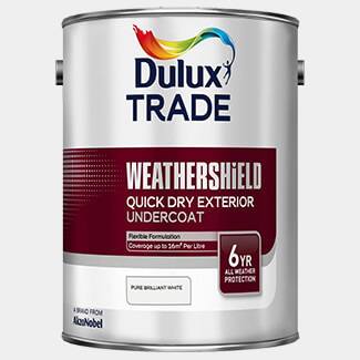 Dulux Trade Weathershield Quick Drying Exterior Undercoat 5L Brilliant White