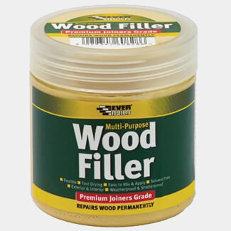 Everbuild Multipurpose Premium Joiners Grade Wood Filler Light Stainable 250ml