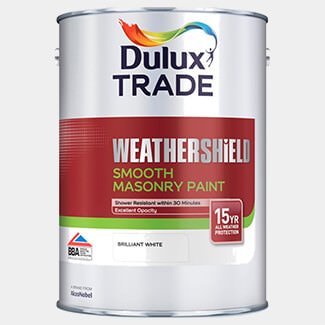 Dulux Trade Weathershield Smooth Masonry Exterior Paint 5L Pure Brilliant White