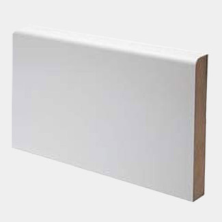 Buildworld White Primed MDF Pencil Round Skirting Board 4200mm Lenght - Various Width Available