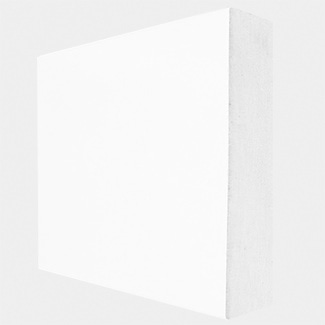 Buildworld White Primed MDF Square Skirting Board 4200mm Lenght - Various Width Available