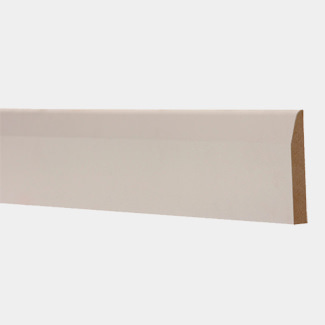 Buildworld White Primed Chamfered MDF Skirting 94mm (4 Inch) - 4200mm Length