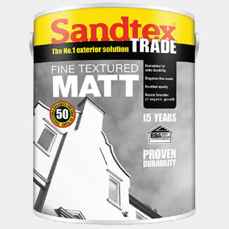 Sandtex Trade Fine Textured Matt Masonry 10L Magnolia