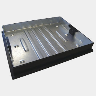 Clark Drain Manhole 65mm Drive Cover & Frame - For Used With Block Paving - Various Depth Available