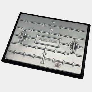 Clark Drain Heavy Duty Pedestrian Manhole Cover And Frame 600 x 450 x 30mm