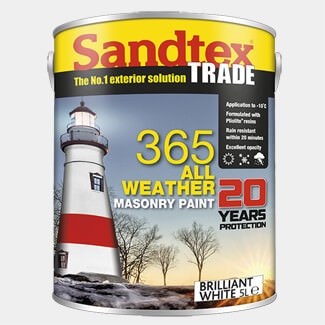 Sandtex Trade 365 All Weather Smooth Masonry Paint 5L - Various Colours Available