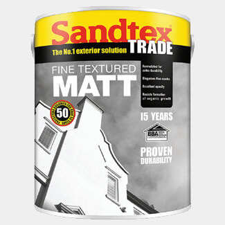 Sandtex Trade Fine Textured Matt 5L Black
