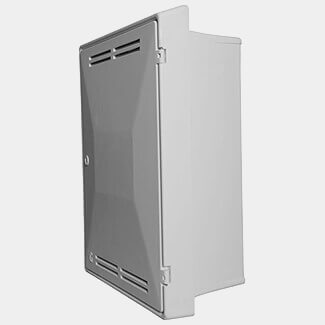 Tricel Gas Meter Box Recessed White