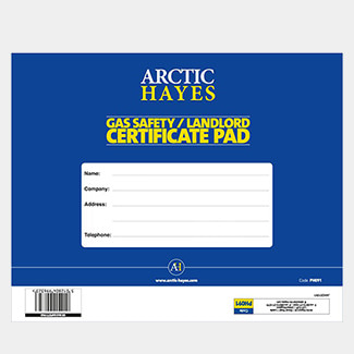 Arctic Hayes Gas Safety / Landlord Certificate Pad