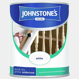 Johnstones Quick Dry Primer Undercoat White Paint - Litres Available