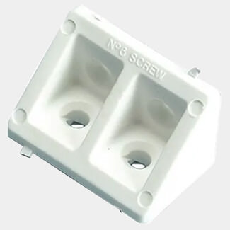 Plasplugs White Rigid Joints Pack Of 2