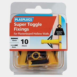 Plasplugs Super Toggle Fixings Pack Of 10