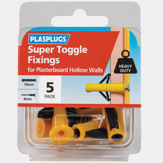 Plasplugs Super Toggle Fixings - Various Pack Available