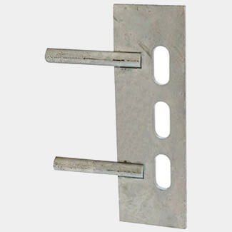 Timco Taurus Gravel Board Clip Twin Pin Galvanised