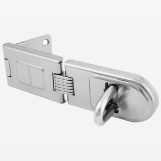 Master Lock Wrought Steel Single Hinged Hasp 160mm