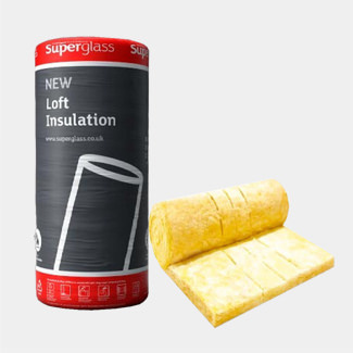 Superglass Loft Roll Insulation - Available In Various Thickness