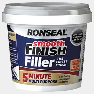 Ronseal 5 Minute Multipurpose Smooth Finish Filler Tub