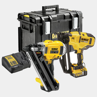 Dewalt Cordless XR Nailer Twin Pack 18V And 2x Li-ion Batteries