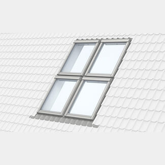 Velux Quatro Combination Flashing - 100mm Gap