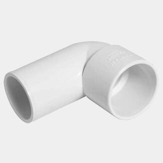 Buildworld 32mm Solvent Weld Street Elbow - Available in White or Black