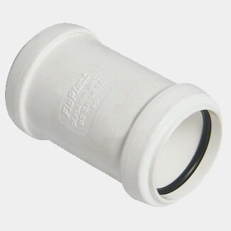 Buildworld 40mm Push Fit Straight Coupler - Available in White or Black