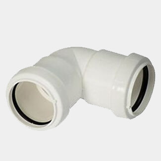 Buildworld 40mm Push Fit  90 Degree Elbow - Available in White or Black