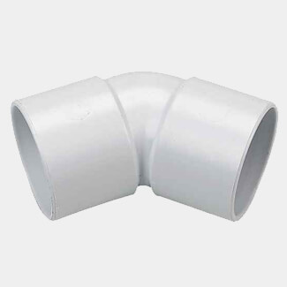 Buildworld 40mm Solvent Weld 45 Degree Elbow- Available in White or Black