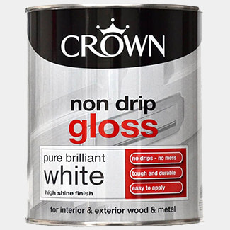 Crown Non Drip Gloss Paint Brilliant White 750ml